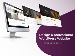 Design a Professional WordPress Website + Free Logo
