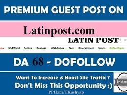 Publish a News Site Guest post Latinpost - Latinpost.com DA 70
