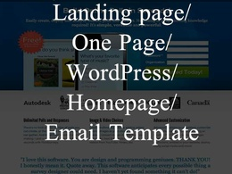 Design and develop one page website/landing page/homepage