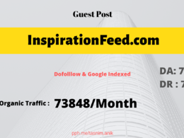 Inspirationfeed.com Traffic 73K/Month guest post inspirationfeed