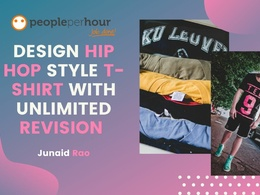 Design hip hop style T-shirt with unlimited Revision