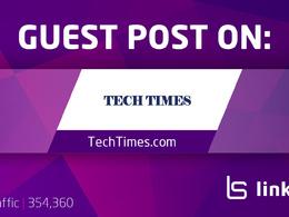Publish a guest post on TechTimes.com