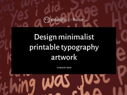 Design minimalist printable typography artwork