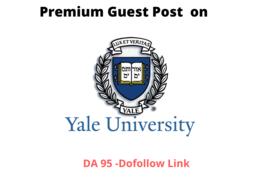 Publish Guest Post On Yale University Blog- DA 95-Dofollow link