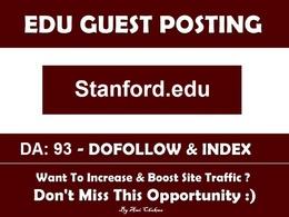 Add A Edu Guest Post On Stanford.edu– DA 93 Edu Blog