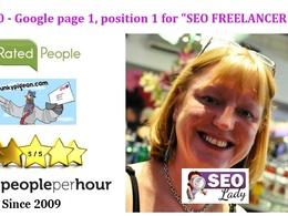 SEO Lady UK's header