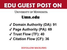 EDU guest post on University Of Minnesota - Umn.edu - DA 91