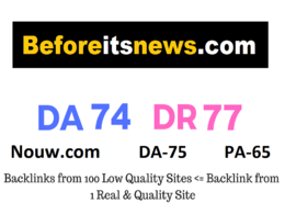 Do High Authority guest post on Nouw & beforeitnews