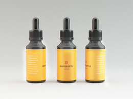 Make your custom 3D bottle products and Renderings