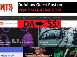 Publish Content  on  Ventsmagazine, Ventsmagazine.com DA- 55