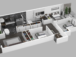 Create 3D floor plan with furniture