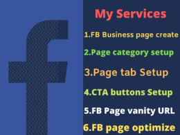 Create & Setup  Facebook business or fan page for you
