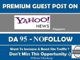 Publish Guest Post Singapore Yahoo Finance sg.finance.yahoo.com