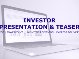 Create your professional investor presentation