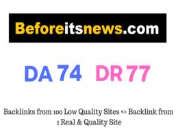 Guest Post on Beforeitsnews - Beforeitsnews.com DA 74 DR 77