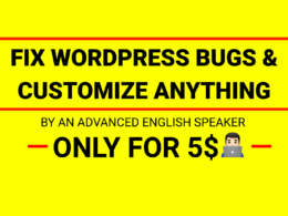Fix  any WordPress/WooCommerce bug or customize your website