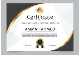 Design a professional certificate for your organization