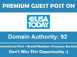 Guest Post and Mention your BRAND on USATODAY.com DA 92