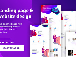 Design incredible responsive landing page or website design UI