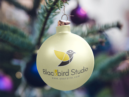 Put your logo or text on a Christmas ball ornament
