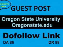 Guest Post On Oregon State University oregonstate.edu DA 85