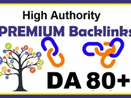 Create 20 Premium link and High Authority Backlinks DA80+