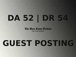 Publish a gust post on The Boca Raton Tribune
