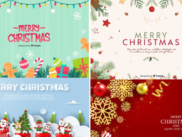Christmas greetings  invitation card design