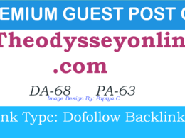 Publish HQ Post on Theodysseyonline.com DA- 68, PA-63, Dofollow