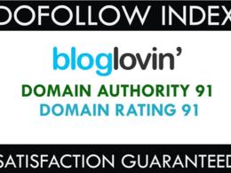 Do Post on Authority Domain Bloglovin - Bloglovin.com DA 93
