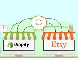 Integrate Etsy store in custom Shopify App