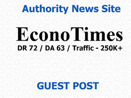 Publish a guest post on Econotimes News Site