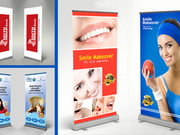 Creative  Roller Banner  / Rollup Design ready for print 300 dpi