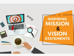 Write an inspiring mission and vision statement upto 250 words