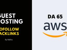 Publish DOFOLLOW backlink - Guest Post on AmazonAWS DA65
