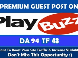 Publish a guest post on Playbuzz DA 94 with backlink