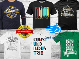 Do custom t shirt designs in typography and merch