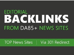 Build high authority backlinks from top news sites via 301