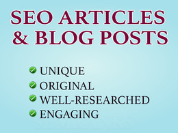 Write 500 words SEO Article or Guest Post