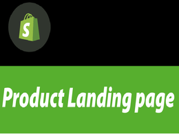 I will create custom shopify landing page.