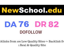 Guest Post on Newschool.edu DA76 DR82