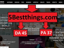 Publish Guest Post on 5Bestthings, 5Besthing.com Dofollow