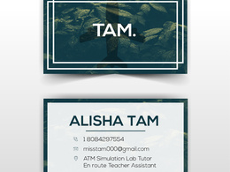 Do a modern business card (2 sided)+unlimited revisions+source