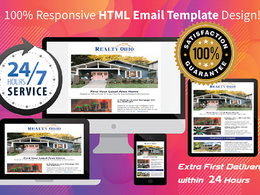 I will design responsive editable html email template