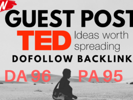 Media Guest Post On TED.com with Dofollow backlink [DA 96]