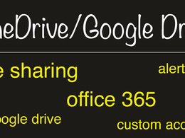 Google Drive, OneDrive Business Sharepoint 365 Intranet Online
