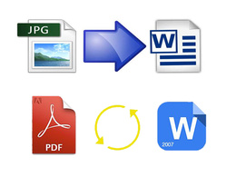 Type 15 pages of pdf/ scanned image/ jpg file into MS Word