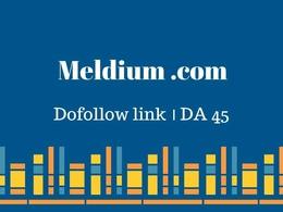 Publish Guest Post at Meldium.com-DA 45- Dofollow link