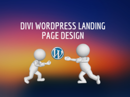 Do Divi WordPress landing page design