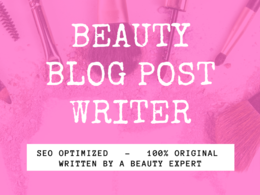 Write a 500 word beauty blog plus free stock images